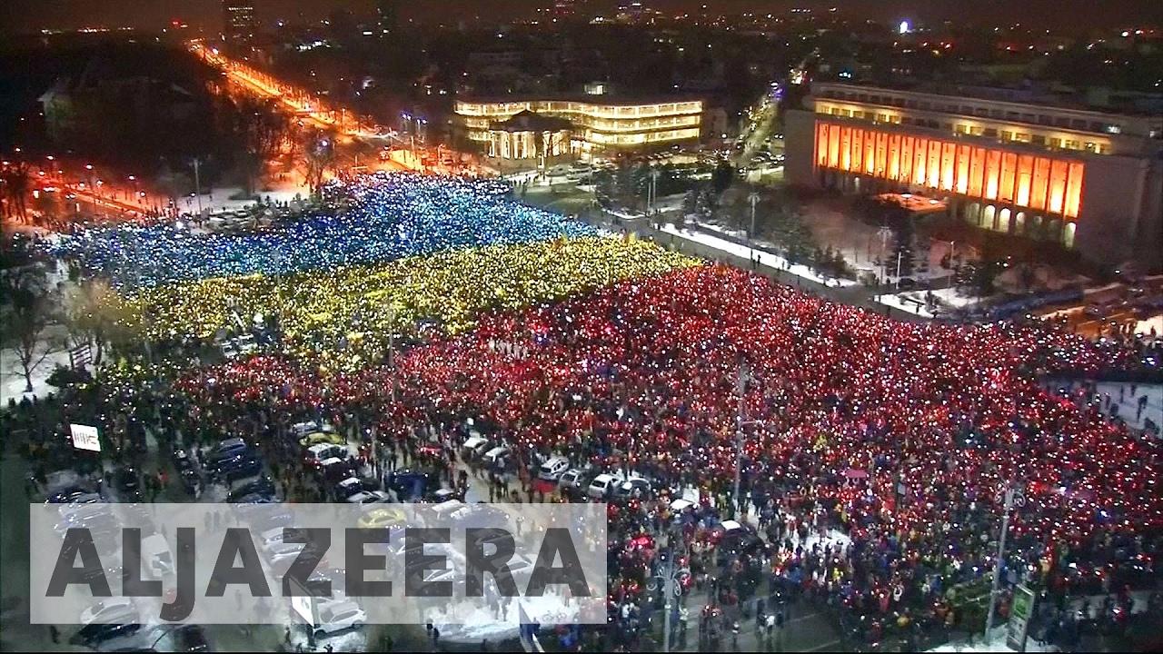 Imagini pentru al jazeera romanian protests