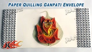 DIY Paper Quilling Ganpati Envelope |  How to make | JK Arts 368