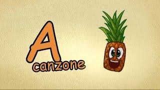 alfabeto italiano per bambini canzone - La lettera A canzone   Impara l'italiano canzoni per bambini