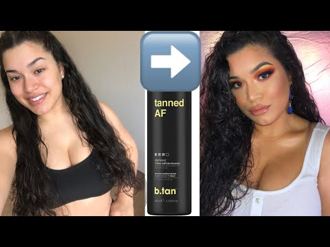 FULL Tanning Routine With B.TAN - Pale To Glowing