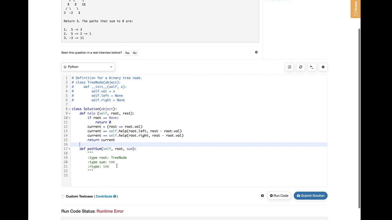 LeetCode 437 Path Sum III
