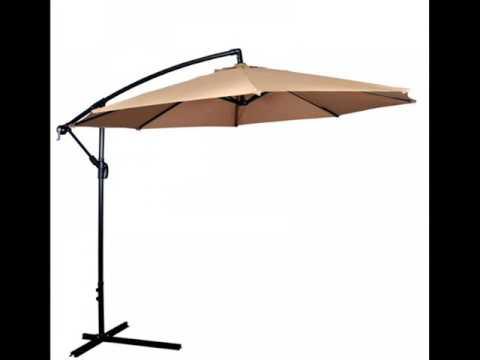 New 10u0027 Patio Umbrella Offset Hanging Umbrella Outdoor Market Umbrella D10