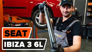 Como substituir amortyzatory traseira no SEAT IBIZA 3 6L [TUTORIAL AUTODOC]