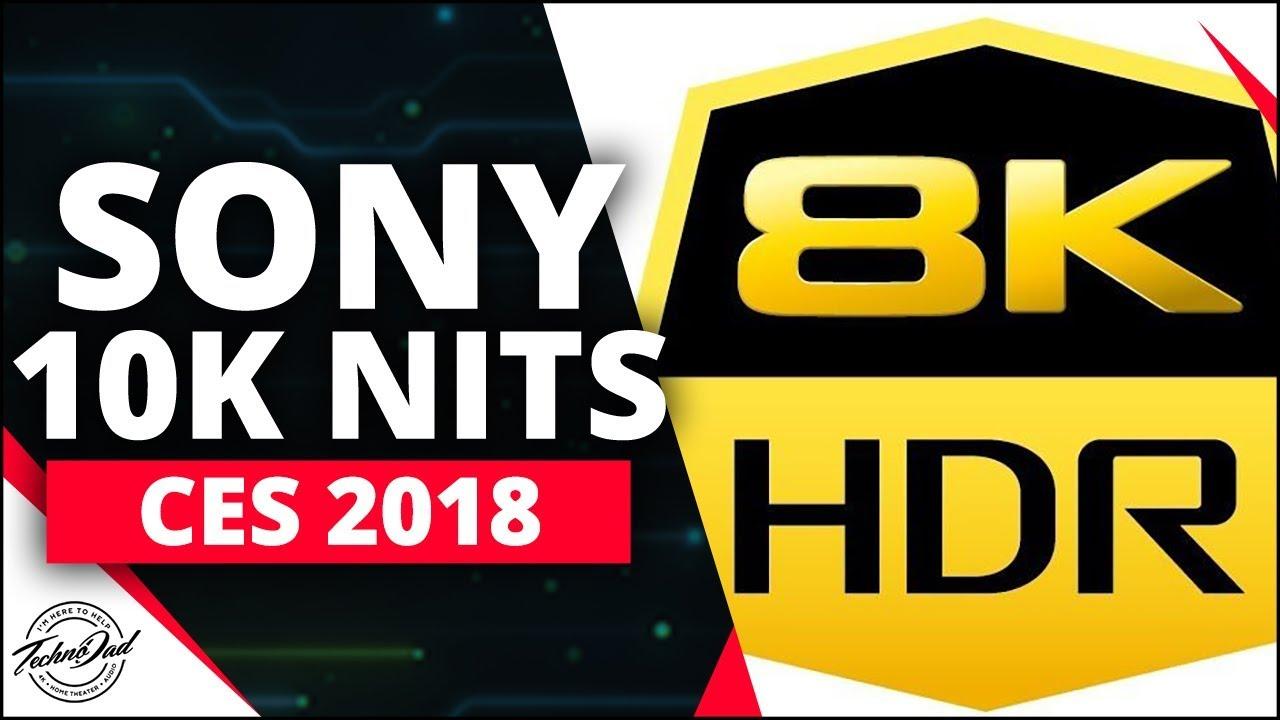 CES 2018   Sony 8K 10,000 Nit TV Full Demo!!