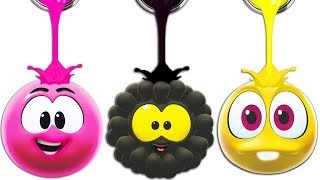 SQUISHY BALLS | Colors With WonderBalls | Cartoon Candy