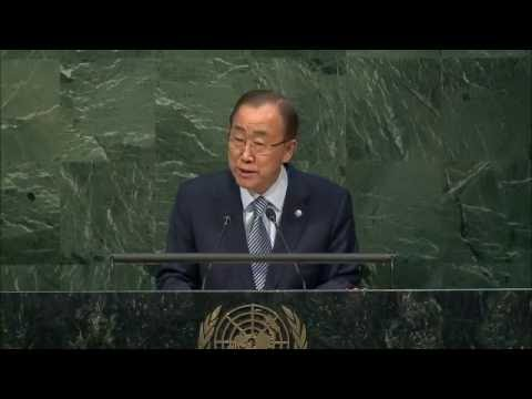 H.E. Ban Ki Moon - Leaders Summit 2016 - Day 1 at UN Headquarters