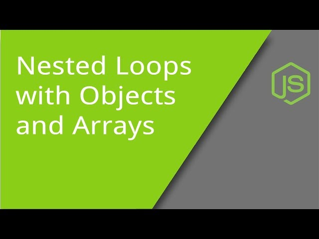JavaScript Nested Loops with Arrays and Objects
