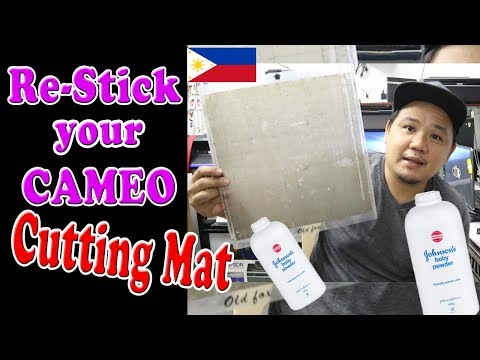 How to Re- Sticking Silhouette Cameo Cutting mat