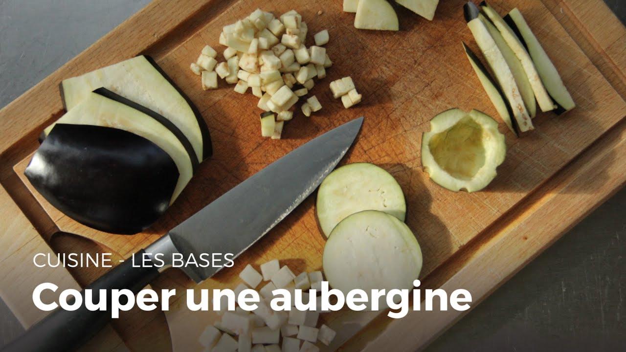 Comment couper une aubergine cuisine youtube - Comment couper des plinthes en biais ...