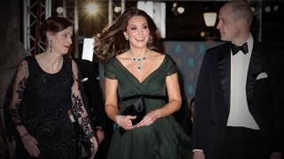 Princess Kate steps out in green at the British Academy Film Awards