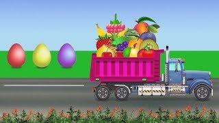 Обучающее видео для детей. Яйца с сюрпризом. Учим фрукты. Мультики для малышей. Паровозик Олли