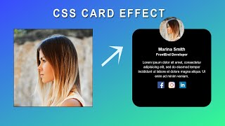 Miniature catégorie - CSS Card Hover Effect | Profile Card Hover Effect Using HTML And CSS