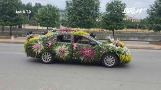 (VTC14)_Độc đáo chiếc xe hoa nhiều hoa nhất Việt Nam