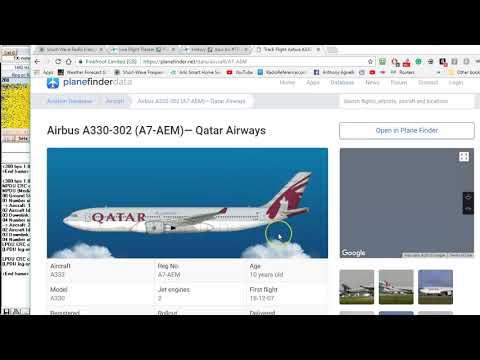 4681 KHZ USB HFDL QATAR 1407 Via Johannesburg S. Africa into