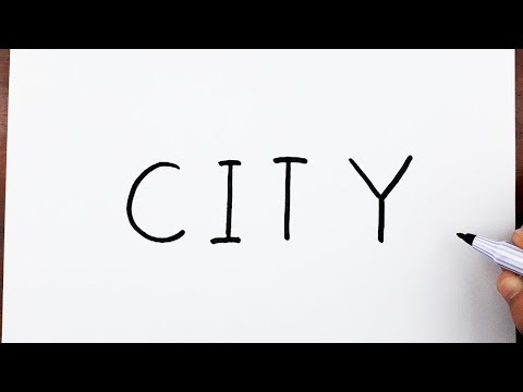 how-to-draw-a-city-using-the-word-city