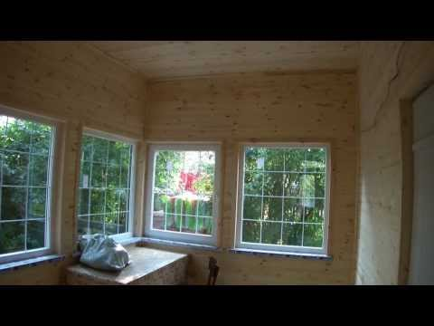 Реконструкция дома. Замена фундамента, отмостка, терраса, кровля, блокхаус.
