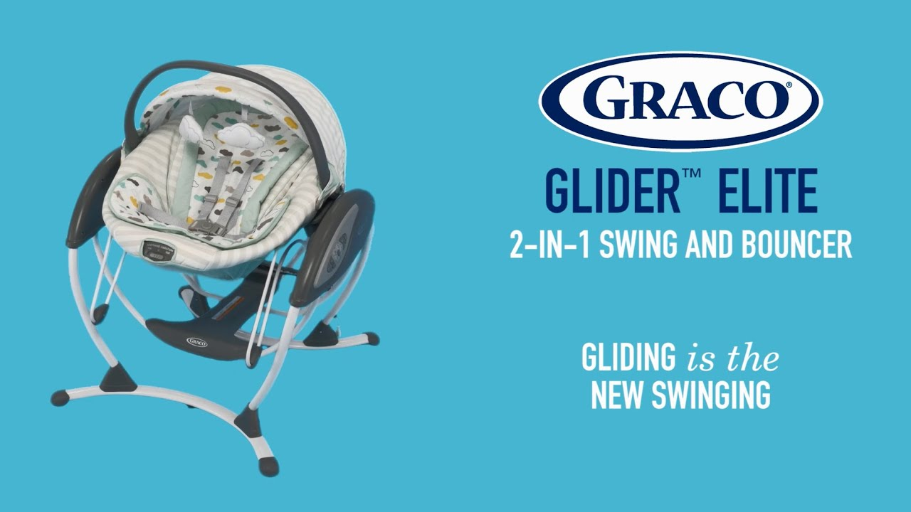 graco glider elite 2in1 swing and bouncer keeps baby close by youtube