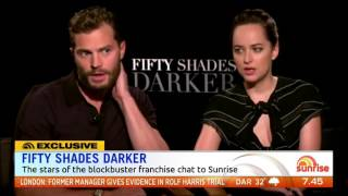 jamie dornan and dakota johnson talk fifty shades darker sunrise interview