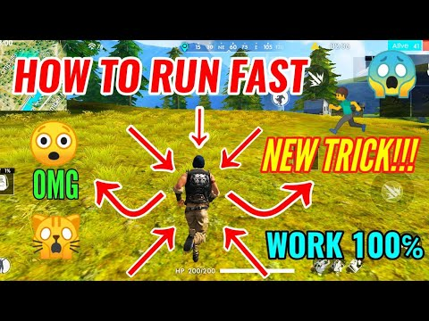 HOW TO RUN FAST NEW TRICK!!! RUN FASTER THEN FASTER IT HELP YOU GARENA FREEFIRE🔥🔥🔥
