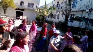 Holi celebration Long way house sainj Bageshear