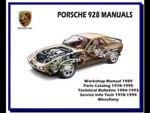 porsche 928 1978 1995 service manual wiring diagram parts rh youtube com