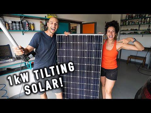 Inventing Motorized Solar Lift for DREAM DIY Van Build! Ep.16