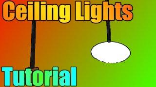 [ROBLOX: Building Tutorial] - Grundlegende hängende Deckenleuchten!