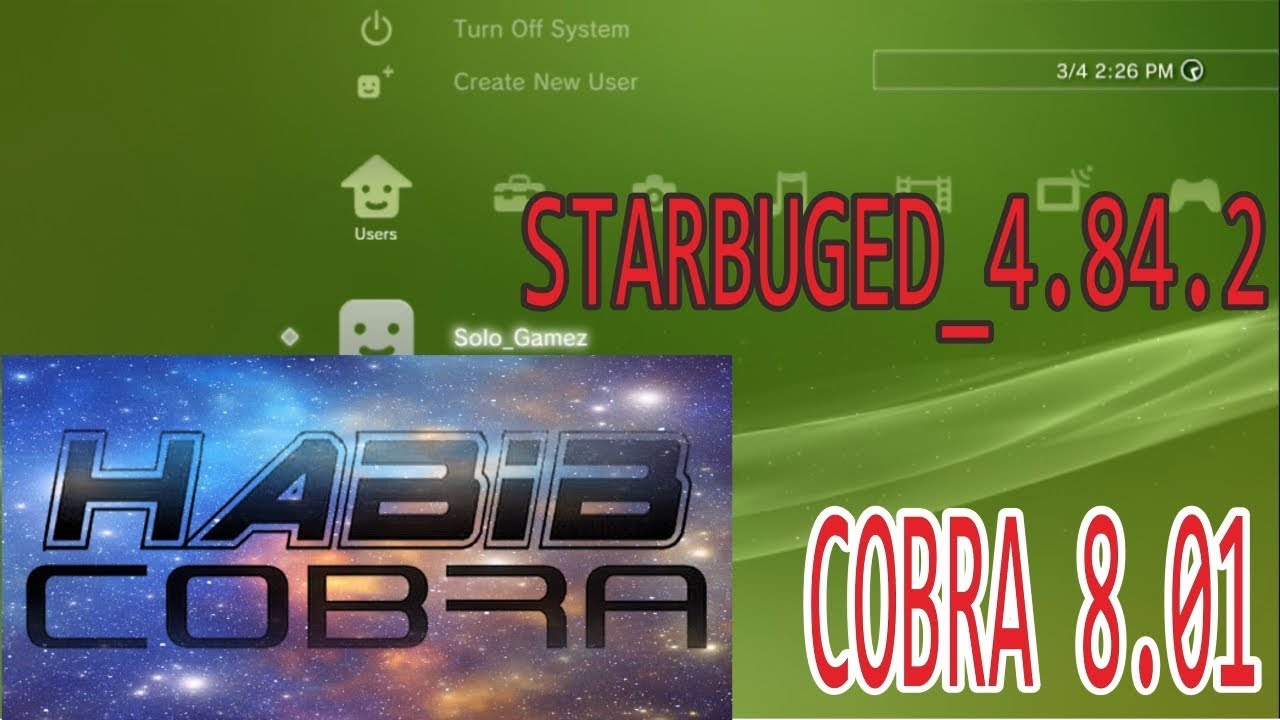 4 84 STARBUGGED (STARBUGED) PS3 CFW with Cobra 8 00 by Habib