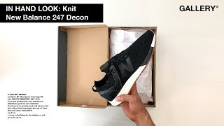 IN HAND LOOK – NEW BALANCE 247 KNIT BLACK