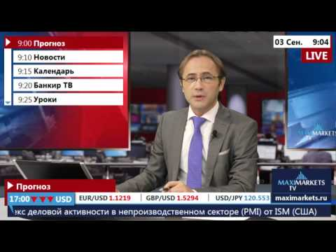 03.09.15 (9:00 MSK) - Прогноз рынка Форекс. MaxiMarkets форекс ТВ.