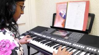 """Kasthuri  performed cover version of  """"Saregame""""  song."""