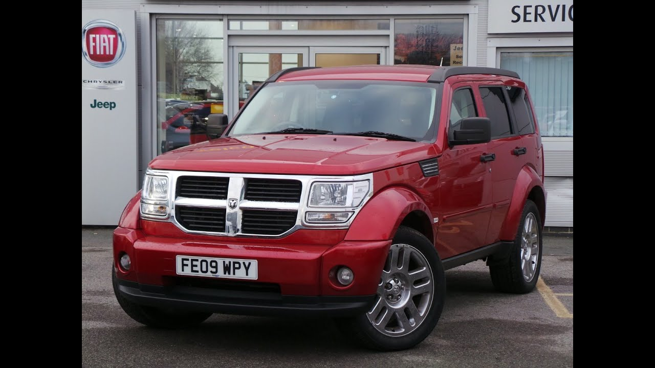 2009 09 Dodge Nitro 2 8 CRD SXt 5dr Auto In Red