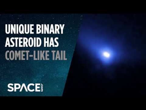 Unique Binary Asteroid Has Comet-Like Tail