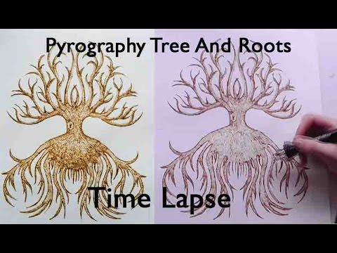 Pyrography Tree Roots