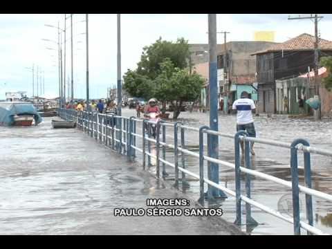 Os dois lados da enchente em Marabá