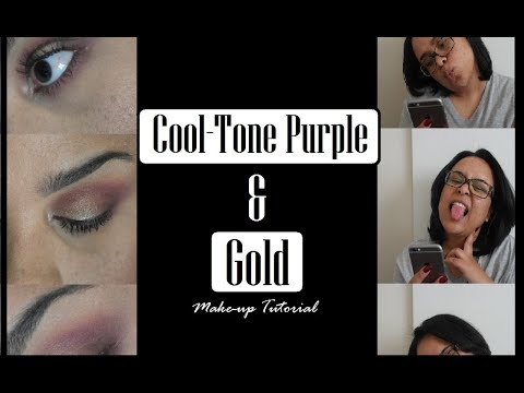 Cool-Tone Purple & Gold Make-Up Tutorial | South African Youtuber