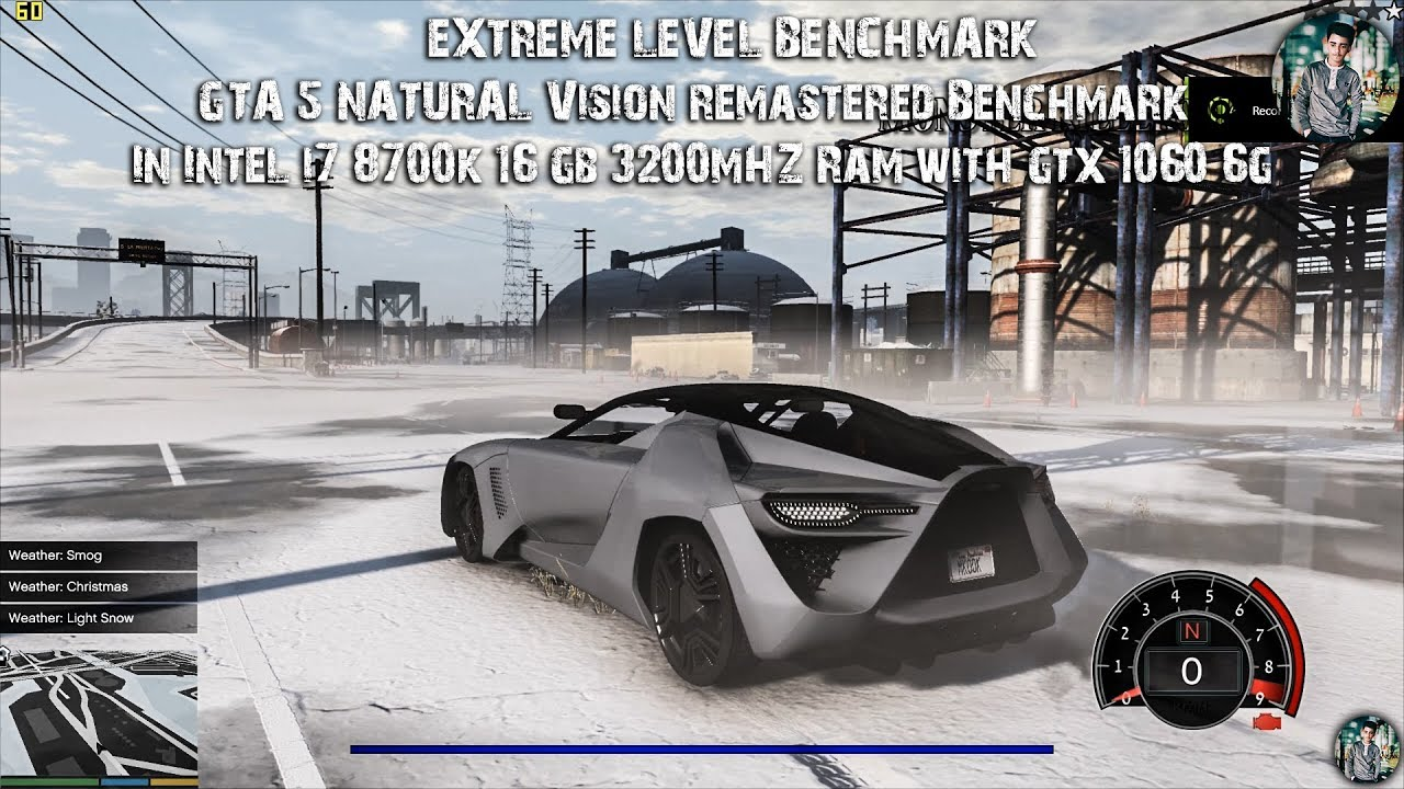 GTA5 NVR Benchmark in Intel I7 8700K + 16GB 3200Mhz Ram with GTX 1060 6GB  (EXTREME LEVEL BENCHMARK)