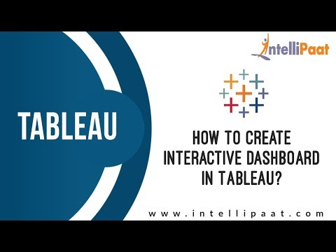 How to create Interactive Dashboard in Tableau? | Tableau Dashboards Tutorial | Intellipaat