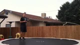 How to do a front flip 180 on a trampoline