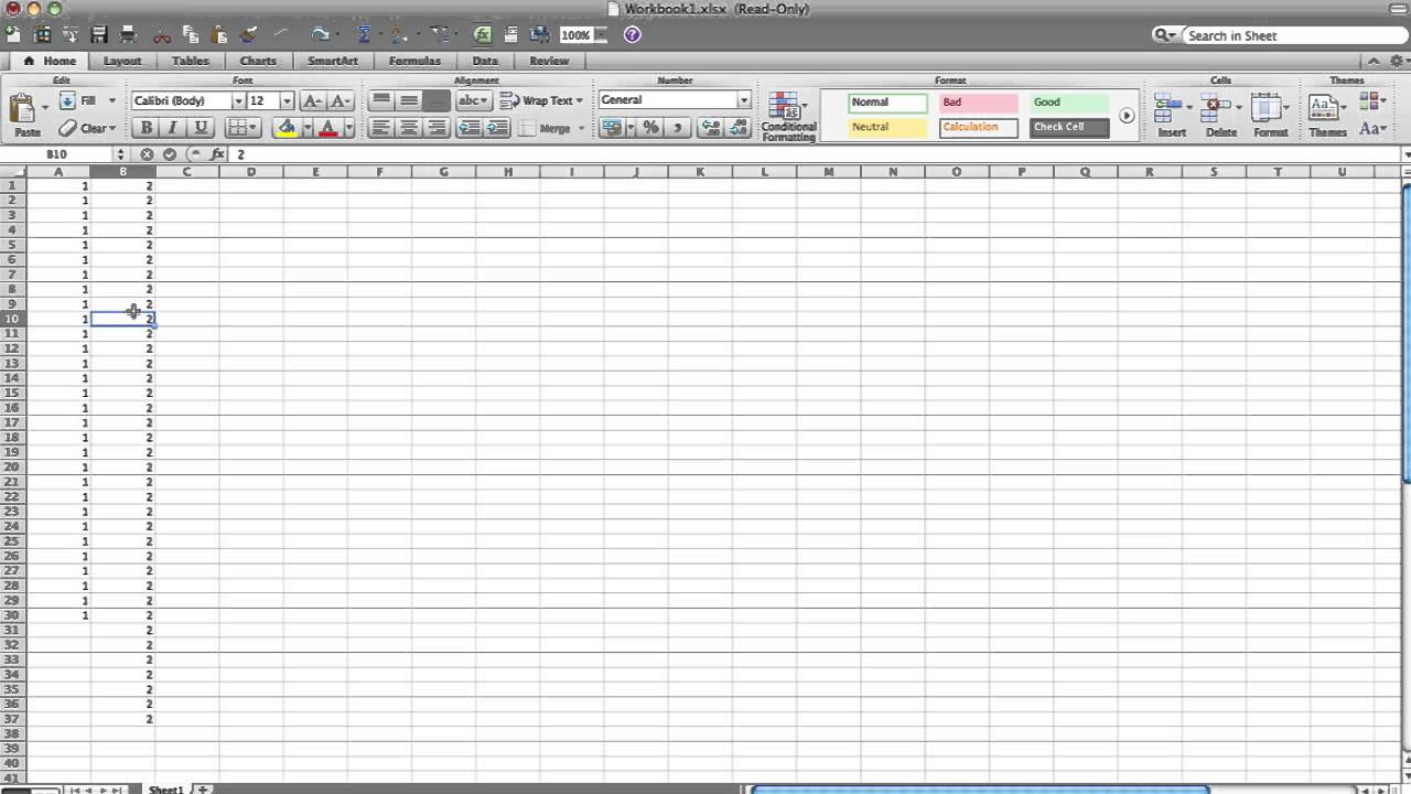 microsoft excel read only change