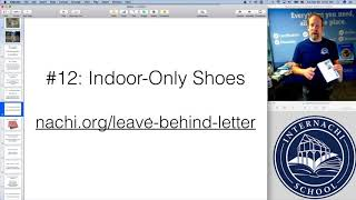 Home Inspection Tip #62:  Indoor-only shoes for home inspectors