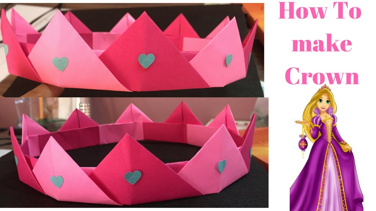 How To Make Paper Princess Crown How To Make Paper Crown Step By Step