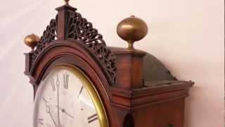 Small Antique Regency Mahogany London Longcase Clock