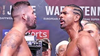 HEATED!! David Haye vs Tony Bellew FINAL FACE OFF at Weigh In | The Rematch