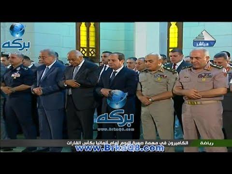 صلاة عيد الفطر من مسجد محمد كريم في الإسكندرية 25ـ6ـ2017م
