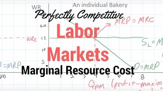 Marginal Resource Cost for a Perfectly Competitive Employer - part 1