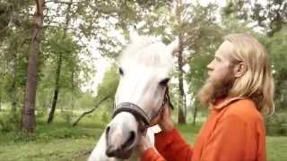 Дада Садананда и конь Бард.