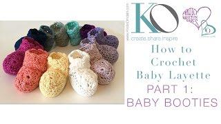 Crochet Layette Part Newborn Baby Booties