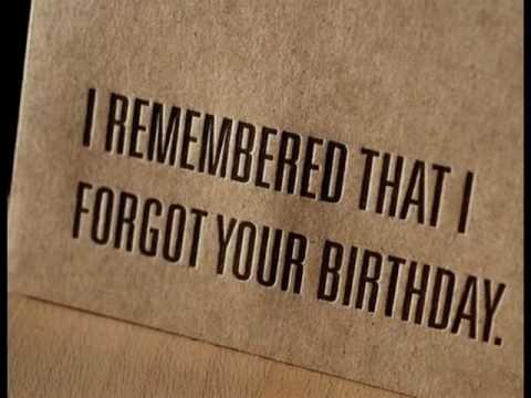 Oepsss Forgot Your Birthday Youtube