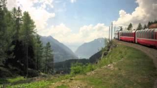Bernina Express to St. Moritz, Switzerland